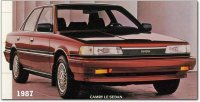 Pellicole auto toyota camry(1987 - 1991 saloon)